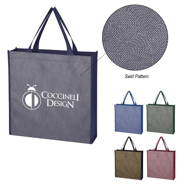Silver Swirls Non-Woven Tote Bag