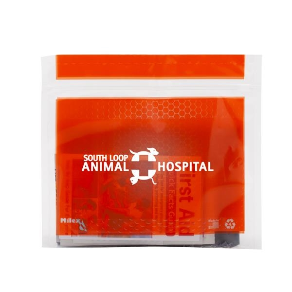 Pet Safety & First Aid Kit in a Resealable Plastic Bag