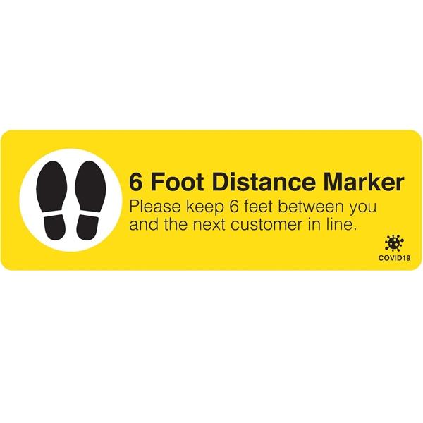 6-Foot Distance 12 x 4