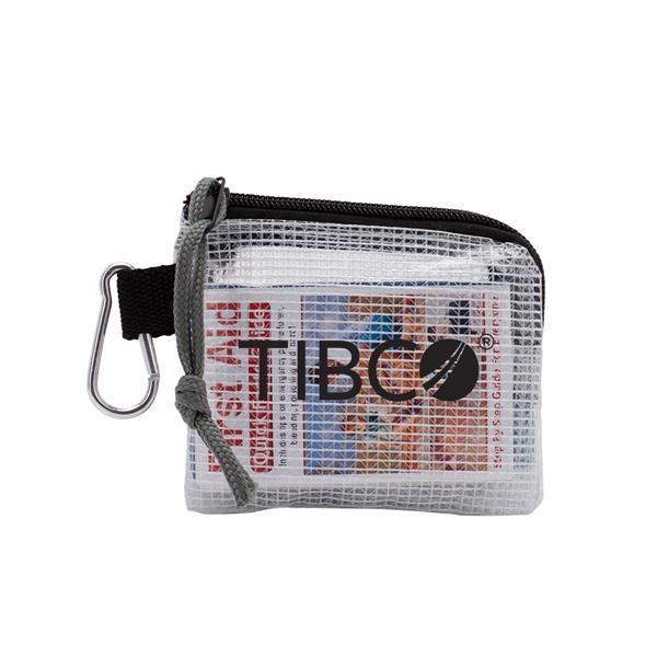 Golf Safety & First Aid Kit in a Zippered Clear Nylon Bag