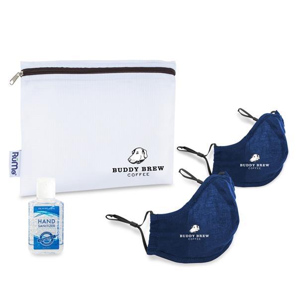 Reusable Face Masks (2 pack) and Hand Sanitizer Kit