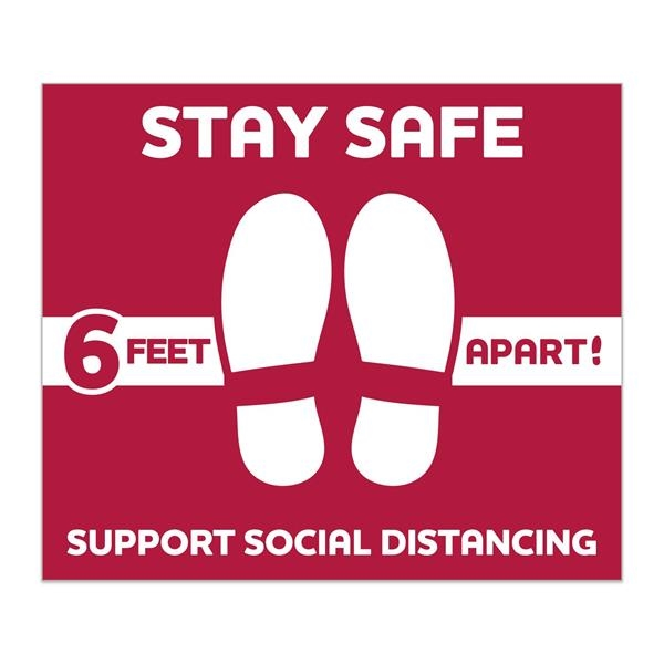 Stay Safe Floor Decals
