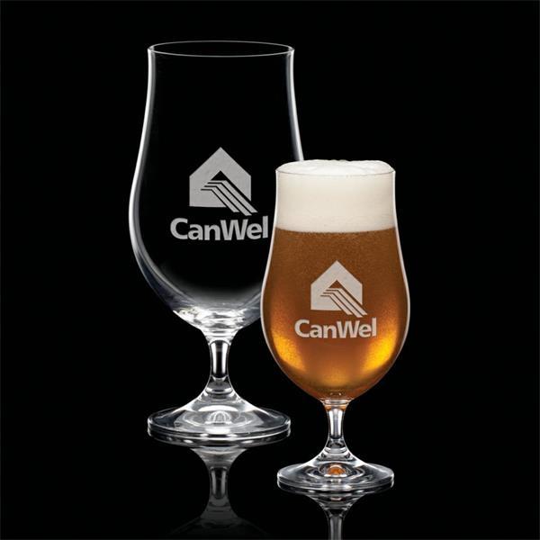 Rochdale Beer Glass - Deep Etch