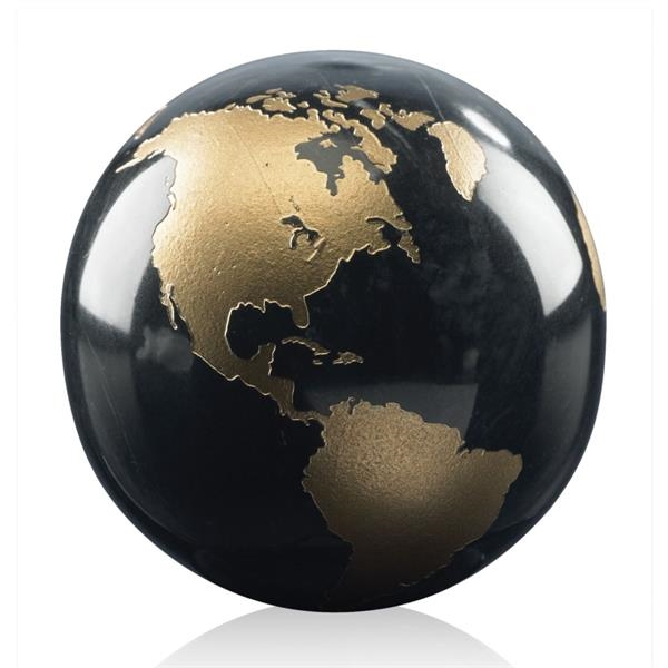 Gold Filled Globe - Black