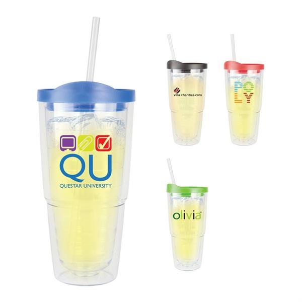 Large Tumbler with Straw - 16oz