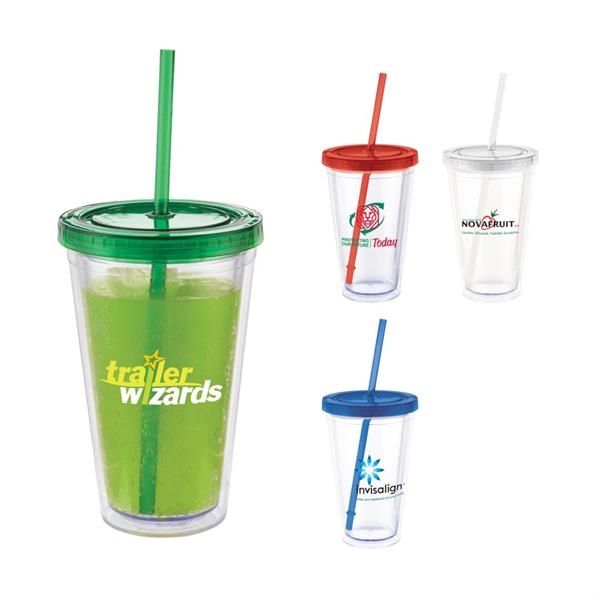 Colors Tumbler with Straw - 16oz
