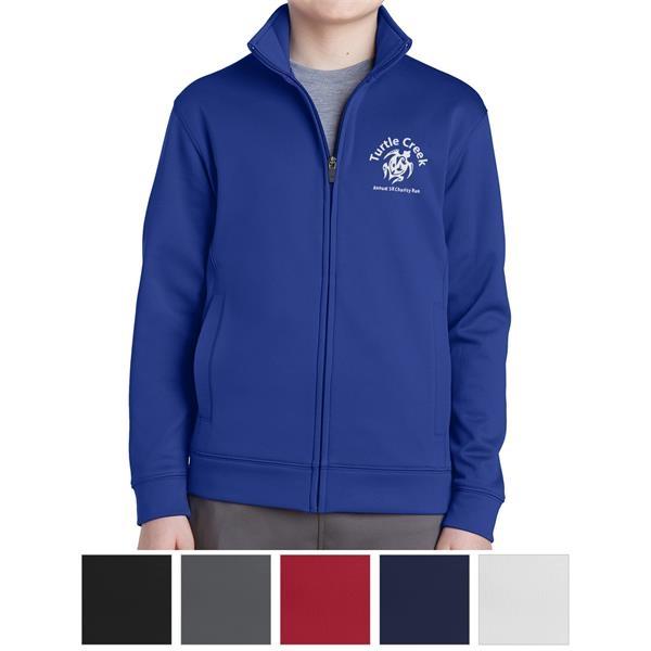 Sport-Tek Youth Sport-Wick Fleece Full-Zip Jacket