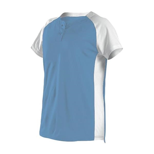 Girls Two Button Fastpitch Jersey