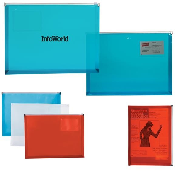 PP Zip-Closure Envelope with Business Card Slot
