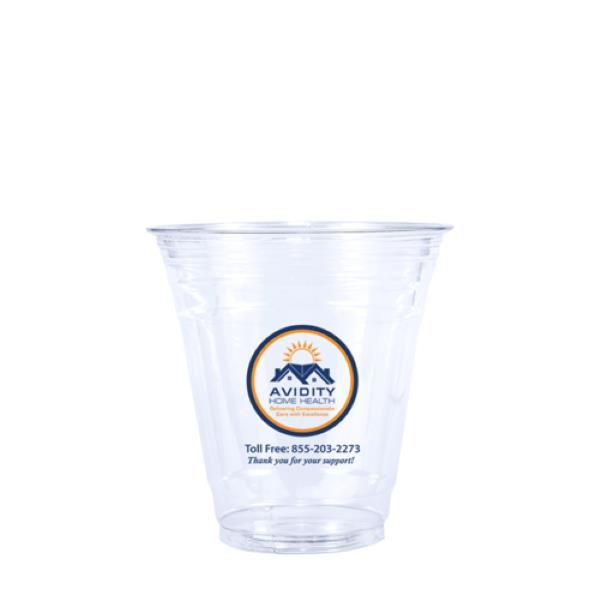 12 oz. Soft-Sided Clear PET Plastic Disposable Cup