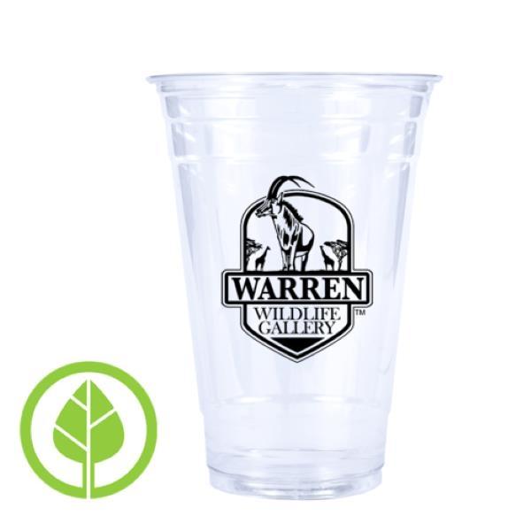 20 oz. Compostable Eco-Friendly PLA Plastic Cup