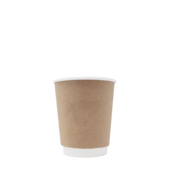 BLANK 8 oz. Kraft Double Wall Insulated Paper Hot Cup