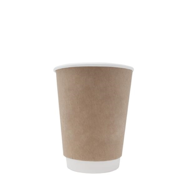 BLANK 12 oz. Kraft Double Wall Insulated Paper Hot Cup
