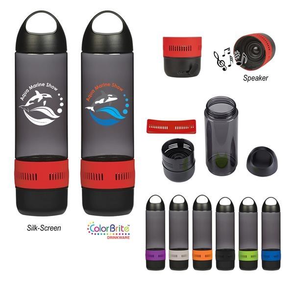 16 Oz. Tritan Rumble Bottle With Speaker