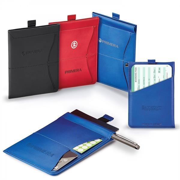 DONALD RFID MEMO PAD/PASSPORT HOLDER