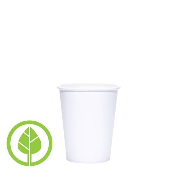 BLANK 8 oz. Eco-Friendly PLA Single Wall Paper Hot Cup
