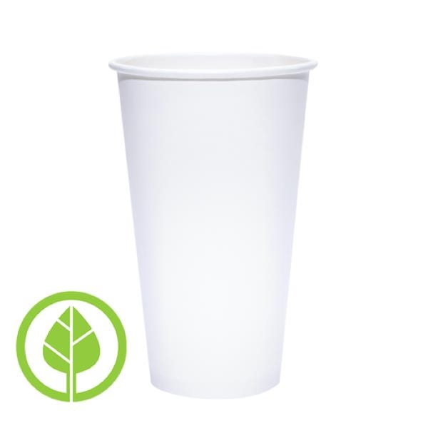 BLANK 20 oz. Eco-Friendly PLA Single Wall Paper Hot Cup