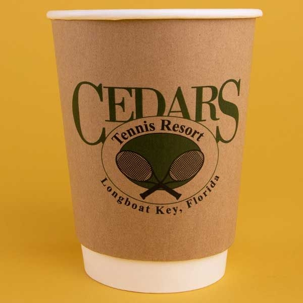 12 oz. Double Wall Insulated Kraft Paper Hot Cup
