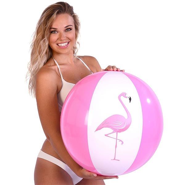 Flamingo Beach Ball In PVC