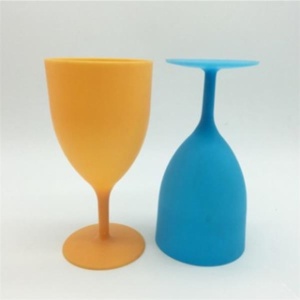 Frosted plastic goblets