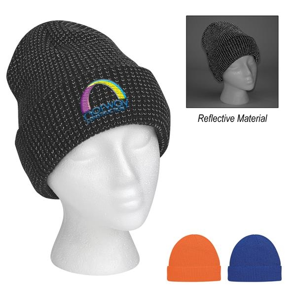 Reflective Beanie With Cuff