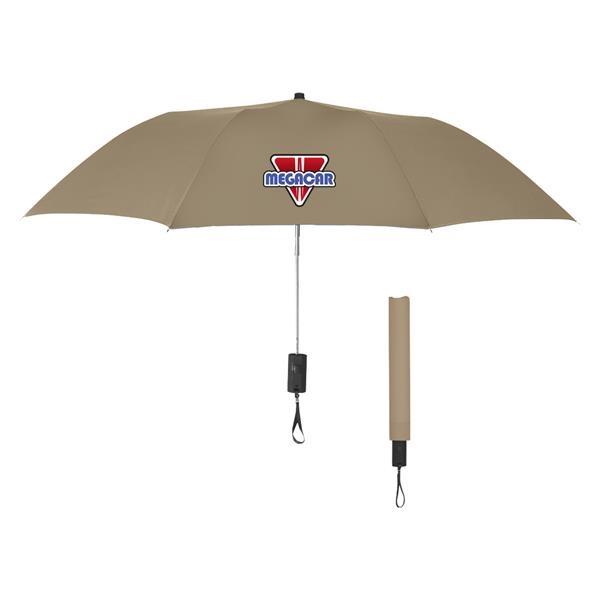 "44"" Arc Auto-Open Telescopic Folding Umbrella"
