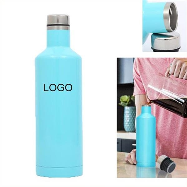 17Oz Stainless Steel Wine Bottle