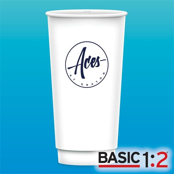 21 oz Vx2 Gloss Double Wall Paper Cup - BASIC 1:2™