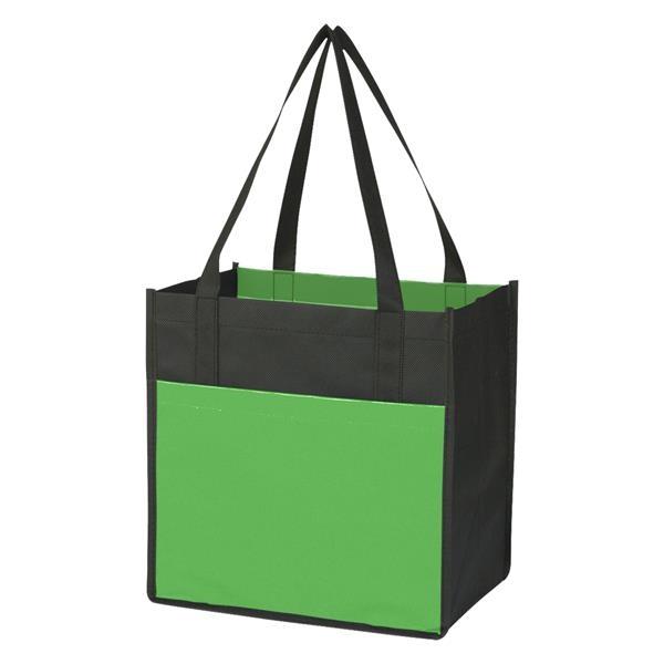 Lami-Combo Shopper Tote Bag - Lami-Combo Shopper Tote.  Made of Combo 80 Gram Non-Woven/110 Gram Laminated Non-Woven, Coated Water Resistant Polypropylene.
