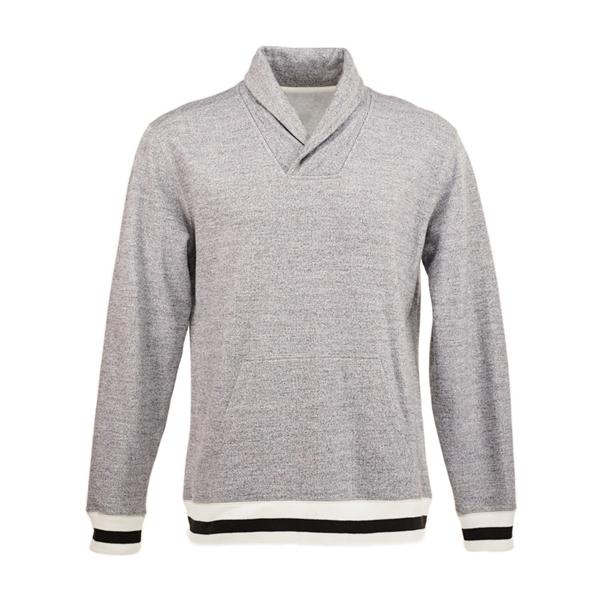 J. America Adult Peppered Fleece Shawl Collar
