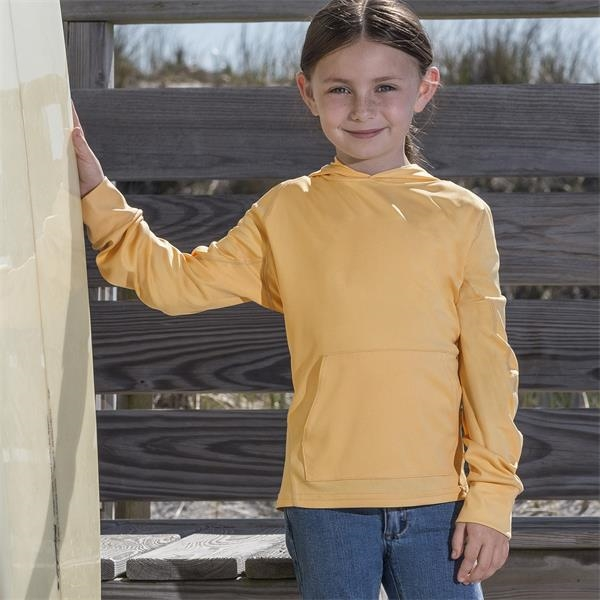 Sunproof® Youth Hooded Long Sleeve Tee