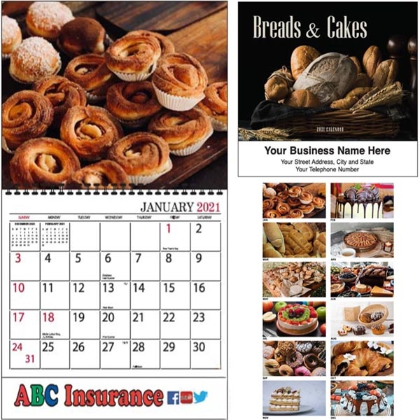 Appointment Line Breads and Cakes Calendar
