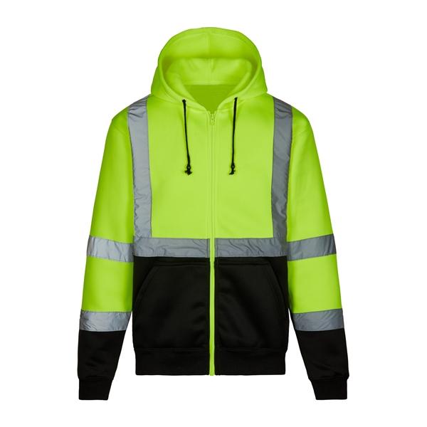 Max Apparel® Hi Vis Full Zip Hooded Sweatshirt