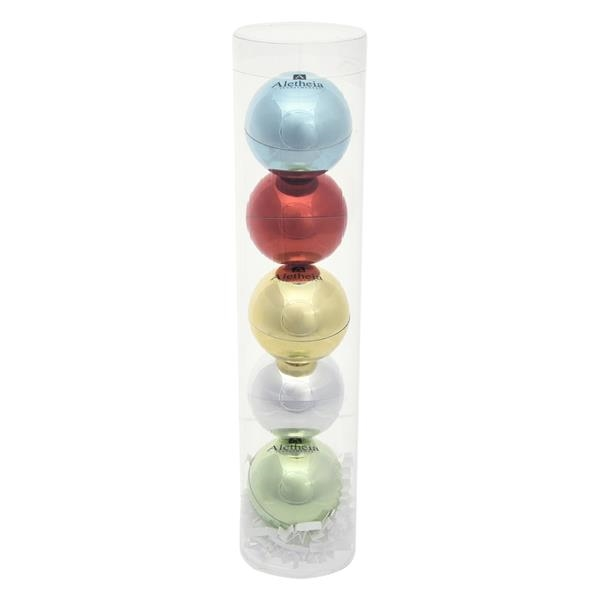 5-Piece Metallic Lip Moisturizer Ball Tube Gift Set