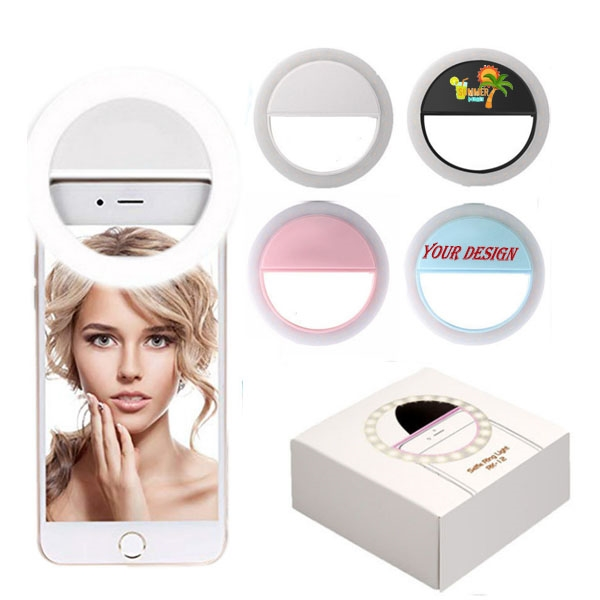 LED Selfie Ring Fill Light Battery Powered For Phone