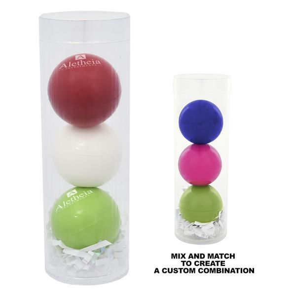 3-Piece Lip Moisturizer Ball Tube Gift S