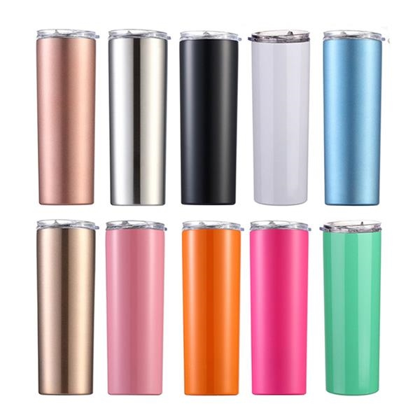 Skinny Travel Vacuum Insulated Tumbler with Lid