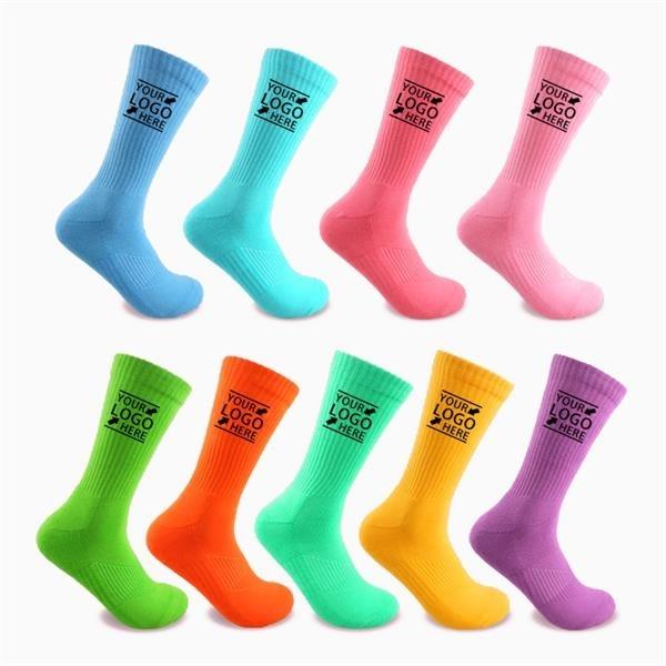 Vertical Cotton Basketball Socks