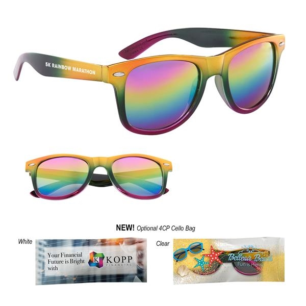 Metallic Rainbow Malibu Sunglasses
