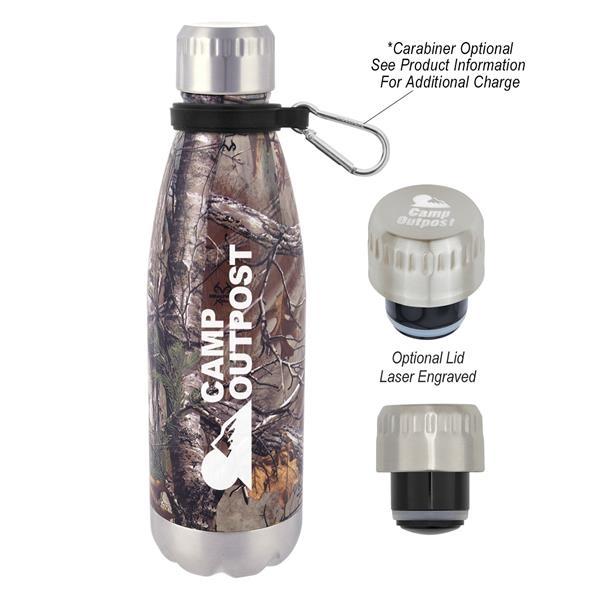 16 Oz. Realtree Swiggy Stainless Steel Bottle