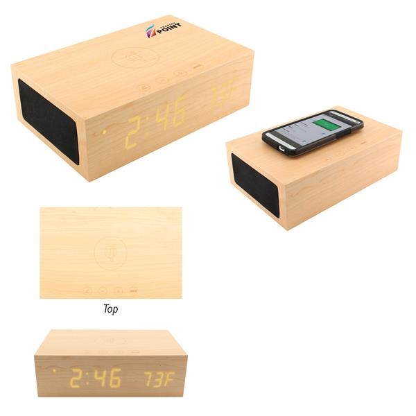 BlueSequoia Alarm Clock With Qi Charging Station And Wire...