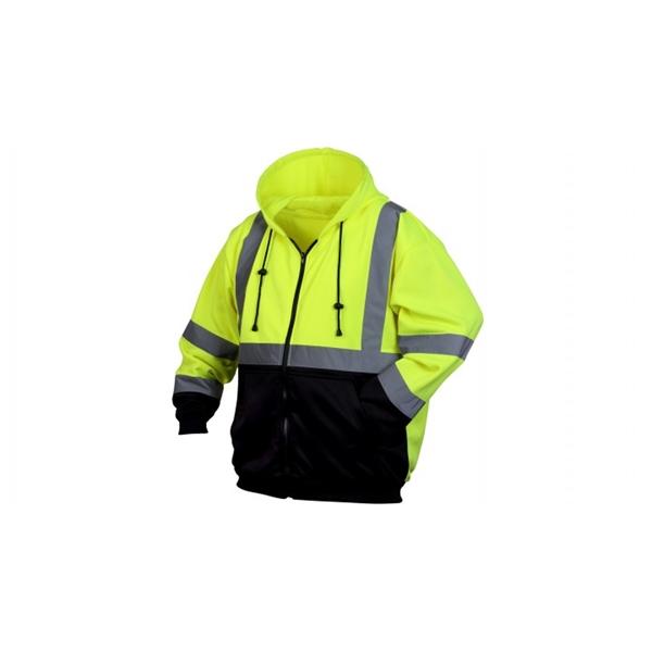 Pyramex® Hi Vis Lime Black Bottom Sweatshirt