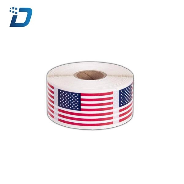 1 inch x 2 inch American Flag Sticker  Label