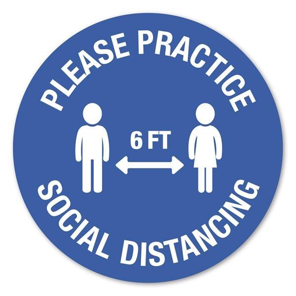 12 Circle Stock Social Distancing Wall Decal