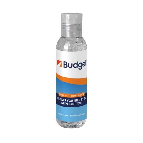 4 oz. Clear Sanitizer in Tall Bottle w/ Clear Flip