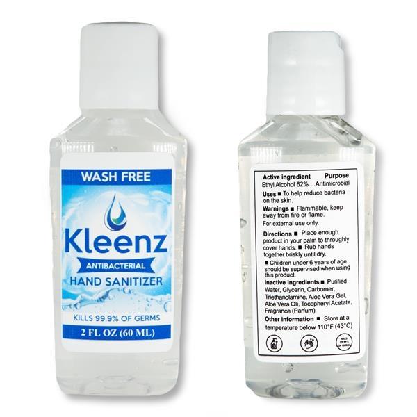 2 oz USA Stock Hand Sanitizer w/ Flip Ca