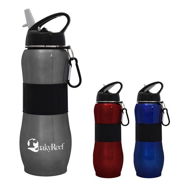 28 Oz. Stainless Steel Sport Grip Bottle