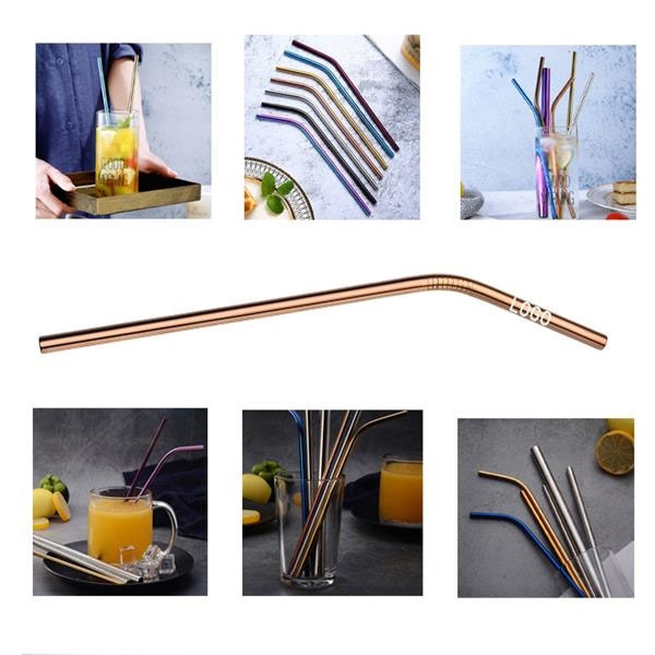 265mm Reusable Stainless Steel Straw (Curved)