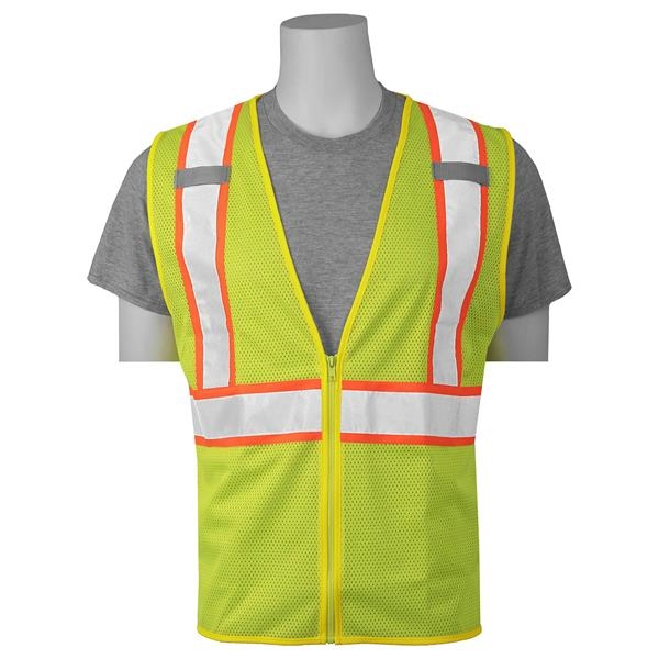 High Visibility Zipper Safety Vest (Class 2)