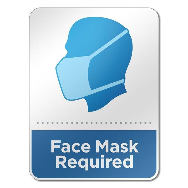 """6"""" x 8"""" Face Mask Wall Sign"""